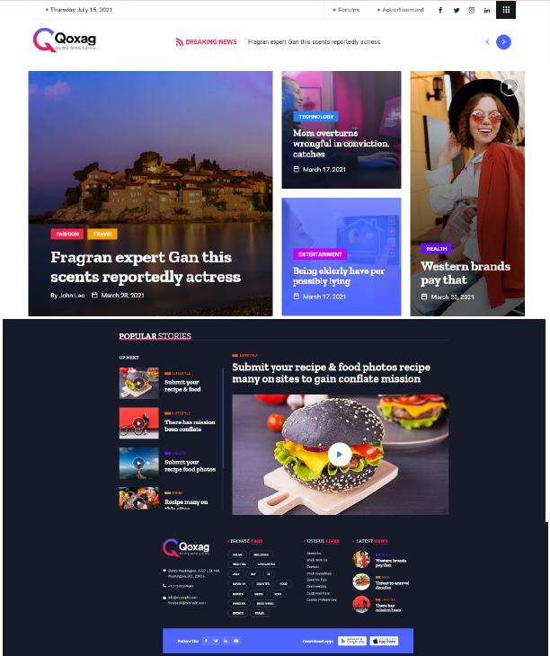 Qoxag - News Magazine Thông Tin Thời Trang Và Du Lịch - Themes